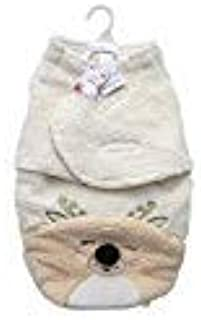 Mini Muffin Plush Fleece Reindeer 100% Cotton Baby Swaddle Blanket, Ivory (3-6 Months)