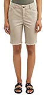 Womens Time & Tru Frayed Hem Bermuda Shorts