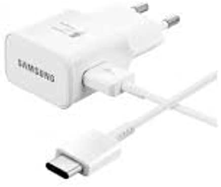 Samsung Originale Tipo C Caricabatterie Caricabatteria rapido EP EP-TA20EWE Colore Bianco con Vpower Cavo USB di Tipo C Cavo di Ricarica ULTRARAPIDO Galaxy S9S9+ Plus + A3A5A72017USB C