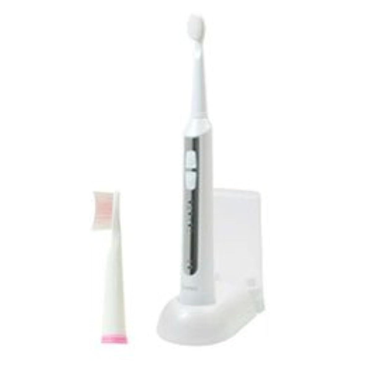 半円直面する怒っているDRETEC 音波式電動歯ブラシ 高速振動と選べる振動モードでしっかり磨ける ホワイト TB-500