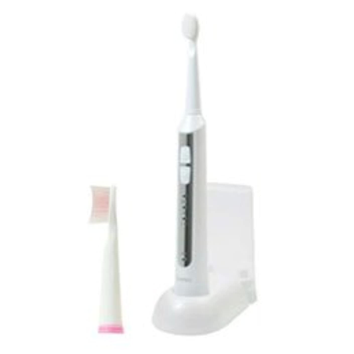 ネズミプロポーショナル征服DRETEC 音波式電動歯ブラシ 高速振動と選べる振動モードでしっかり磨ける ホワイト TB-500