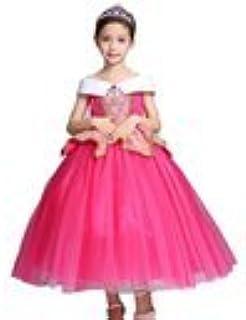 SHUNYI 子供ドレス ピアノ ロング プリンセス ディズニー ハロウィン仮装 オーロラ姫 かわいい 発表会 ワンピース キッズ フォーマル 結婚式 演奏会 入園式 衣装 ピンク120