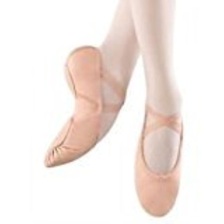 So Danca Professional Womens' Ballet Shoes, 7.5 L- Width M -Split Sole, Leather w/Stretch Insert Style BA-11 Pink
