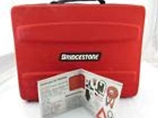 47 Pieces Auto Emergency Kit Featuring Tire Inflator/Booster Cables/Window-Mount Triangle / 10-LED Headlamp