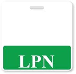 LPN Horizontal Badge Buddy with Green Border by Specialist ID, Sold Individually