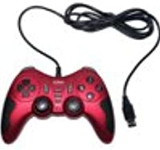 USB 2.0 PC Dual Double Shock Controller(Red & Black) for Toshiba laptop