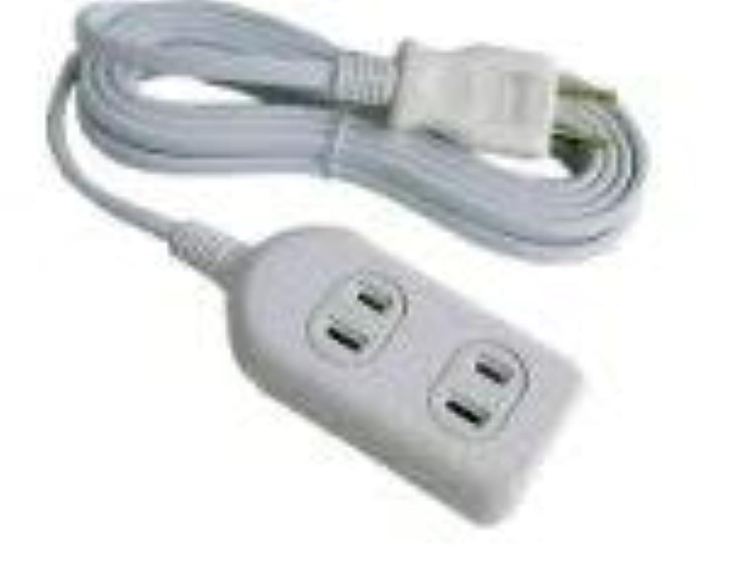 追い付くポット利用可能3個口タップ付延長コード10m白