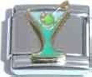 Martini with Olive Italian Charm Bracelet Link