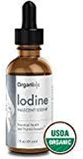 Organixx - Nascent Iodine Drops - Essential Health and Thyroid Support - USDA Certified Organic - East-to-Absorb Liquid - Hypothyroid & Energy Supplement - 200 Liquid Drops with 650 mcg Per Drop