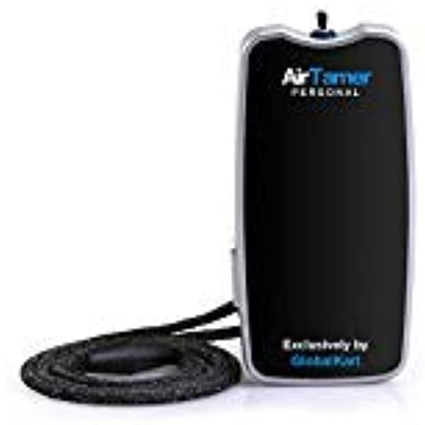 AirTamer A310 Personal Rechargeable And Portable Air Purifier Negative Ion Generator Purifies Air Eliminating Germs Dust Viruses Bacteria Allergens Mold Odors And More Black