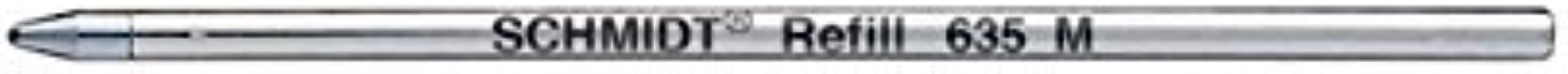 Schmidt 635 Mini Ball Pen Refill - 6 Pack - Black