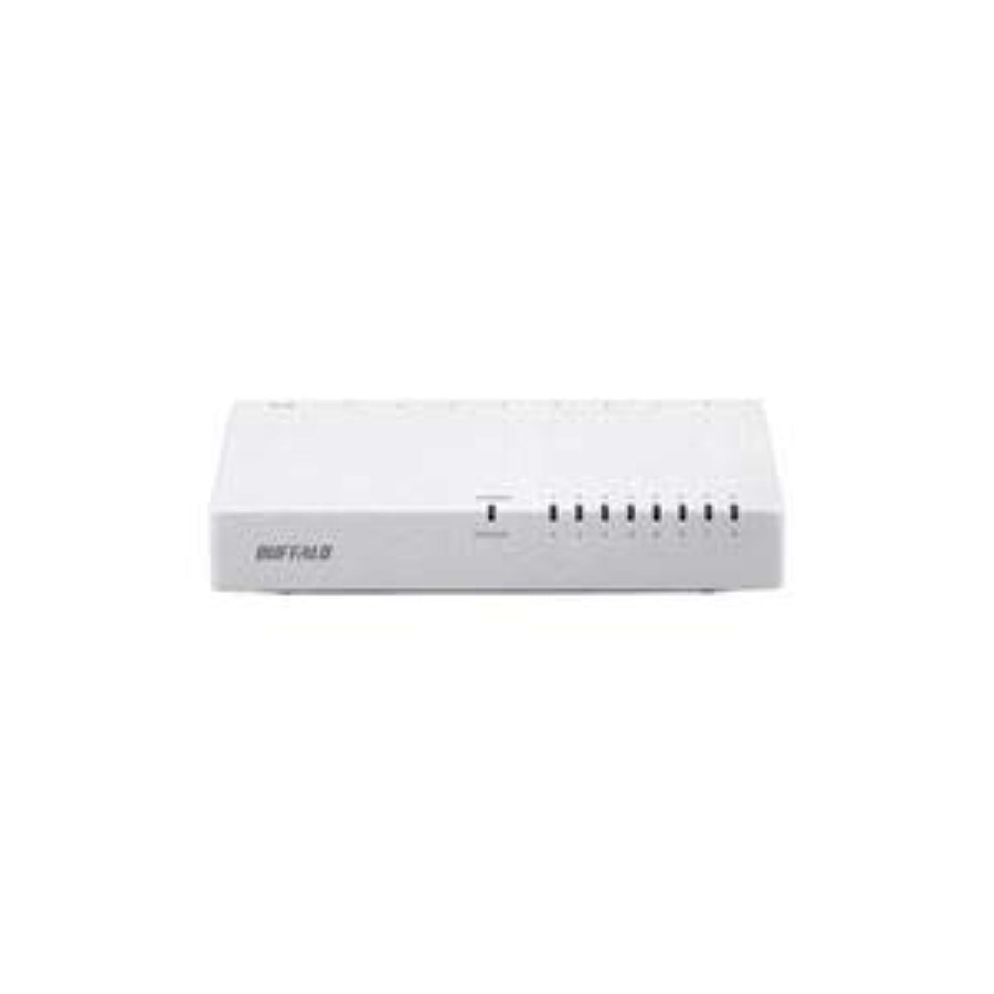 鷹備品バンドル(まとめ) BUFFALO バッファロー 10/100Mbps対応スイッチングHub プラスチック筐体/電源外付けモデル(8ポート) ブラック LSW4-TX-8EP/WHD 【×2セット】