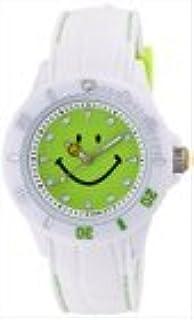 [スマイリー] SMILEY 腕時計 ステッチシリコン ホワイト×グリーン WC-HBSIL-WDGR
