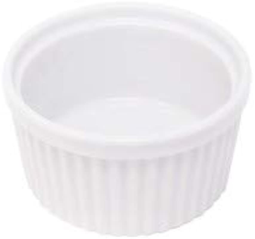 K International 5 Ounce Glazed Porcelain Ramekins Classic Fluted Design Soft White Color Oven Microwave And Dishwasher Safe 3 4 X 1 8 Includes Two 2 Medium Sized Ramekin Dishes