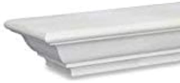 Sams Creek Forest Products Frederick Mantel Shelf Painted White 60 W X 7 3 4 D X 3 3 4 H 60