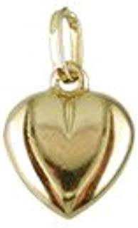 18K Yellow Gold Puffed Heart Charm