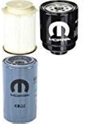 amazon com: dodge ram 6 7l cummins diesel filter set mopar oem: automotive
