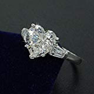 KassarinShop Handmade Heart Cut 3ct Diamonique Cz 925 Silver Women Eternity Wedding Band Ring (9)