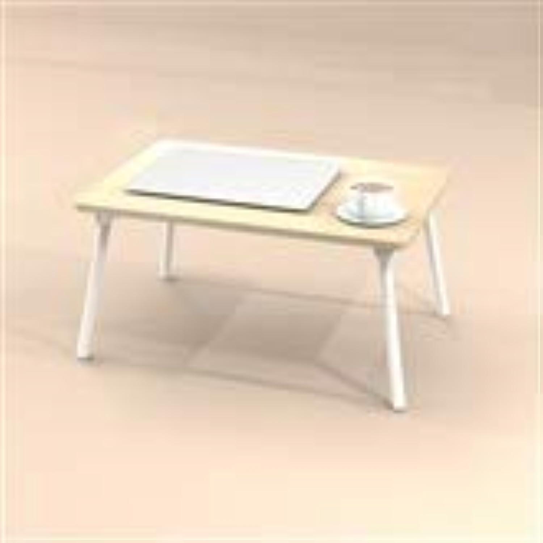 Desk, Computer Desk Bed Desk Student Foldable Desk Desk Available in Two Sizes Portable Table (color   Maple color)