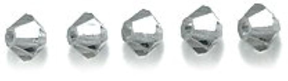 Swarovski 5328 Xilion Bicone Diamond Beads, Transparent, Black, 3-mm, 48/Pack