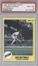Don Mattingly Graded PSA 8 NM-MT (Baseball Card) 1987 Star Don Mattingly Yankee Hitman - Stickers #N/A