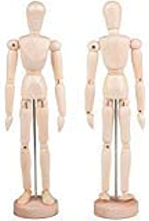 Alikeke 2 Pack 12 Inches Tall Wooden Mannequin Artist Manikin with Stand - Great for Drawing or Desktop Decor (Men and Wom...