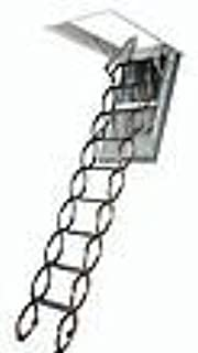 FAKRO LSF 66858 Fire-Resistant Insulated Steel Scissor Attic Ladder for 22-Inch x 47-Inch Rough Openings