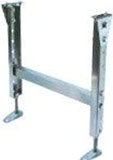 三機工業 定置脚 ステンレス 軽・中負荷用 ローラ幅B 800mm ローラ上面高さH 87.5mm LSW80-87.5(MHS)