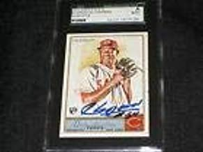 Aroldis Chapman Reds Legend Signed Autographed 2011 Allen Ginter Card #5 Sgc Coa - Baseball Slabbed Autographed Cards