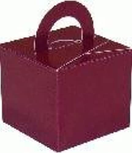 Burgundy Balloon Weißht Favour Gift Box x 10 by Missy Moo