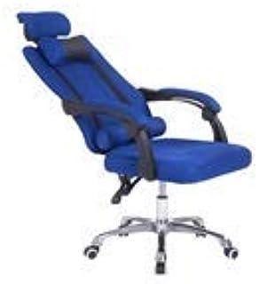 MJY Silla Silla cómoda para conferencias, silla suave y cómoda Silla transpirable fácil de limpiar Escritorio y silla para computadora Silla para estudiantes Silla para hotel Sillón,Azul