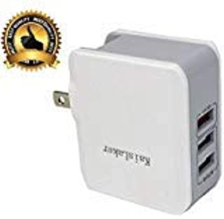 USB Wall Charger Quick Charge 3.0 Compatible for iPhone Xs/XS Max/XR/X/8/7/6/Plus, iPad Pro/Air 2/Mini, Galaxy S9/S8/Edge/Plus, Note 8/7, LG, and More (30W 3 USB 3.0)
