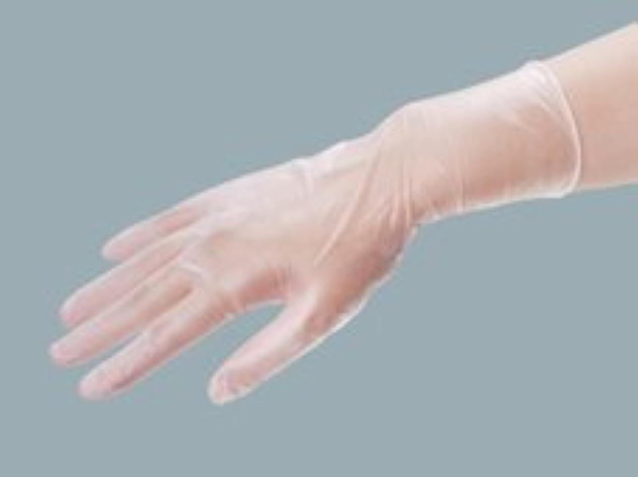 樹皮蒸フロントエクセレント プラスチック手袋 PVC-250粉付 Lサイズ(100枚入)