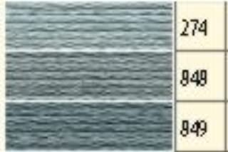 colore 1 x Anchor stick Twist bleu{160}