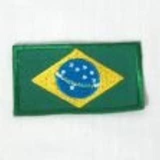 BRASIL COUNTRY FLAG EMBROIRERED IRON-ON PATCH CREST BADGE 1.5 X 2.5 INCHES