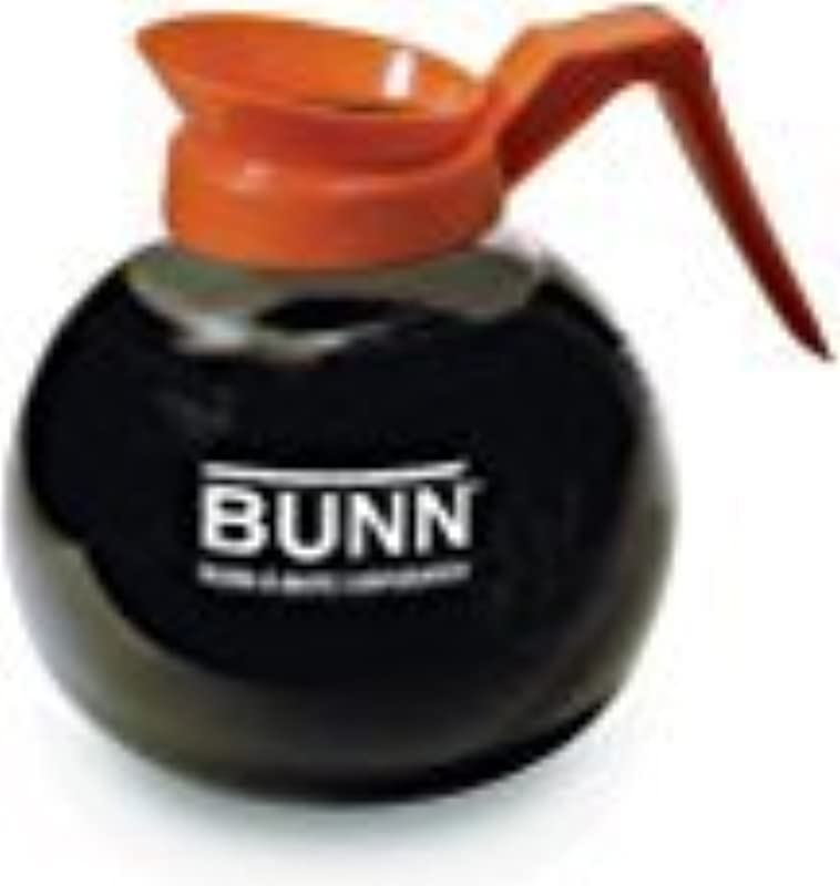 BUNN Coffee Pot Decanter Carafe Orange Regular New Glass Design Shape Ergonomic Handle 12 Cup Capacity