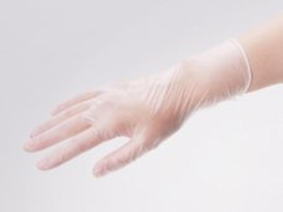 金属ボトルネック戸口エクセレント プラスチック手袋 PVC-200PF Mサイズ(100枚入)