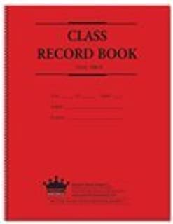 Class Record Book, 8-subject 9-week