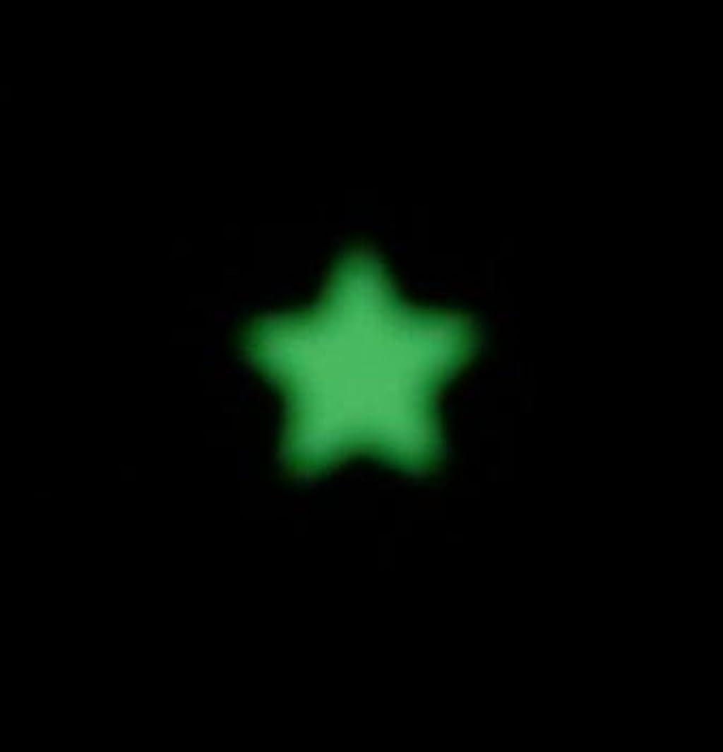 特異性対象場所夜の暗闇で光るネイルシール【ルミシール】星?スター 1シート9枚入