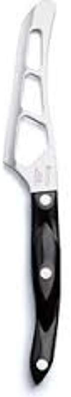 Model 2164 CUTCO Petite Cheese Knife With 3 8 Micro D Serrated Edge Blade And 5 Classic Dark Brown Handle Often Called Black In Factory Sealed Plastic Bag