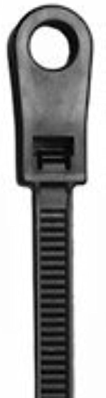 NTE Electronics 04–0750 MH0 Bohrung Nylon Kabelbinder, 50 Lb. Zugfestigkeit, 20,3 cm Länge, 0,4 cm Breite, 0,1 cm Stärke, UV-Schwarz (100 Stück) B008UFWH0I | Qualitätskönigin