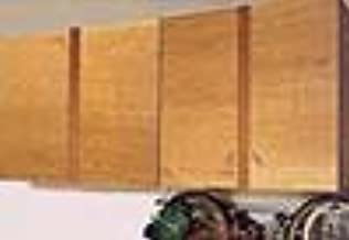 8 Foot Wide x 4 Foot Tall Garage Storage Cabinet Kit with 8 Padded Storage Hooks and 2 Ladder Hooks