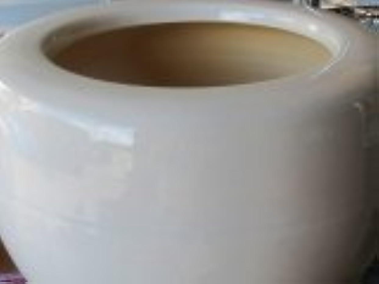 動作ミッション恐れる信楽ホワイト火鉢、11号、ホワイト(オリジナル)、期間 付属品南部鉄火箸、灰ならし、紀州灰5kg、底ネンド1kg、底白石1kg付