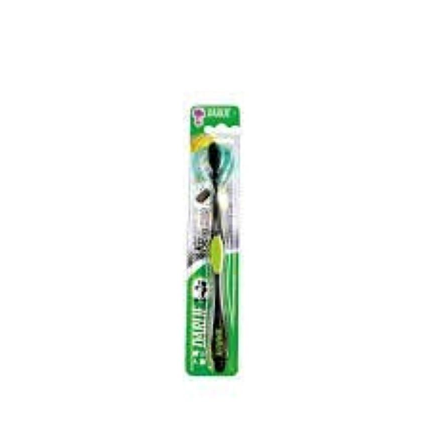 全体に滑りやすいコモランマDARLIE チャコールブラック歯磨き粉歯ブラシのクリーニングはテーパ1S-口臭を防止するために、活性炭粒子で強化毛。