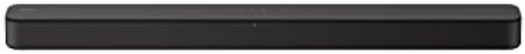 Sony S100F 2.0ch Soundbar with Bass Reflex Speaker, Integrated Tweeter and Bluetooth, (HTS100F), easy setup, compact, home office use with clear sound black