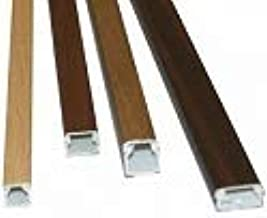 Canaleta adhesiva para cable el/éctrico Medidas 16x16 mm imitaci/ón madera sapeli en tiras de 2 metros