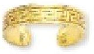 Greek Key Adjustable Toe Ring