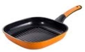 LJBH Pan, Frying Pan, Flat Non-stick Frying Pan, Youth Fashion Square Frying Pan, 10.4 Inch Cyan Ergonomic handle design, ...