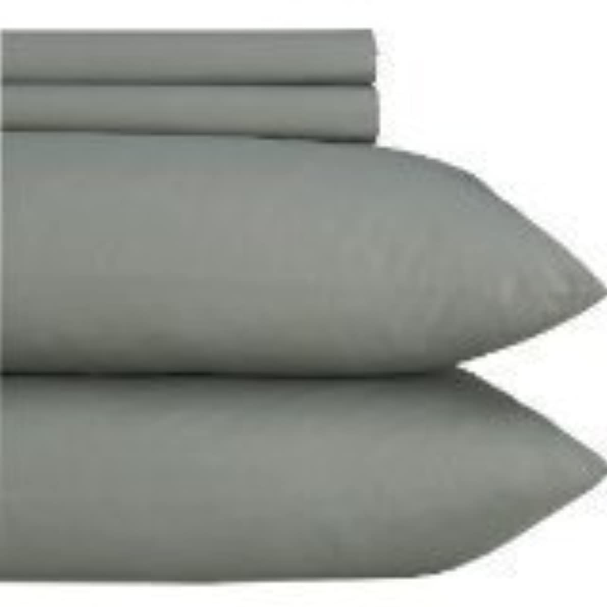 BESPOLITAN INC. 1200 Thread Count 2PCS STANDARD Size Egyptian Quality PILLOWCASES, Solid, GRAY