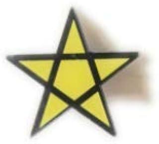 Fun Designs Online - Broche de Estrella (tamaño Grande), Color Negro y Amarillo
